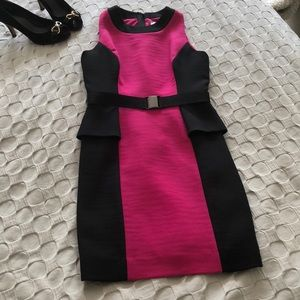 Worn once! Milly dress with peplum & removal belt